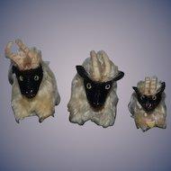 Vintage Steiff Billy Goat Set Three Snucki Small Size THREE Goats!