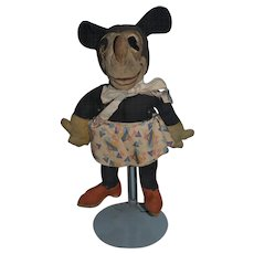 Old Doll Cloth Mickey Mouse Rag Doll Old Wonderful