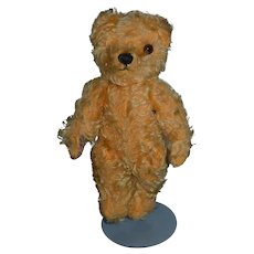 Old Teddy Bear Jointed Mohair English? Cabinet Size Sweet!