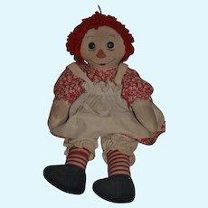 Vintage Doll Raggedy Ann Big Button Eyes Big Girl