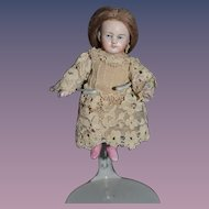 Old Doll Miniature All Bisque Jointed Dollhouse