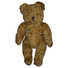 """Old Teddy Bear """"Sidney"""" Jointed w/ Provenance"""