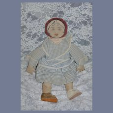 Old Doll Cloth Doll Rag Doll Drawn on Features Sweet and Different