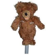 Old Teddy Bear Long Hair Jointed Open Mouth TOO CUTE!