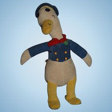Old Unusual Cloth Donald Duck Character Stuffed Animal