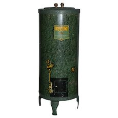 Old Tin REX Water Heater Miniature Dollhouse Bank
