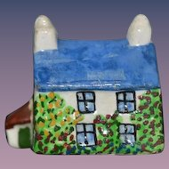 Old Miniature Dollhouse Cottage Hand Painted Staffordshire? England
