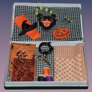 Wonderful Miniature Artist Doll Halloween sewing items for your doll In Original Box