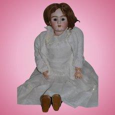 """Antique Doll Bisque Big 109 DEP 29"""" Tall French Market Heinrich Handwerck Gorgeous Dress!"""