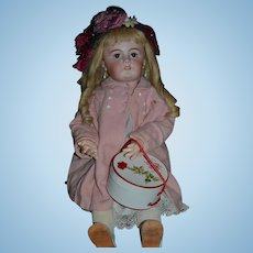 Antique Doll TeTe Jumeau French BIG Bisque Girl HUGE Gorgeous W/ Hat Box