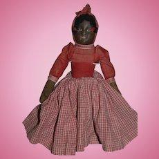 Old Doll Oil Cloth Topsy Turvy White Doll Black Doll Rag Doll