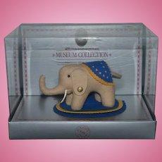 Vintage Margarete Steiff Museum Collection Elephant Miniature in Box