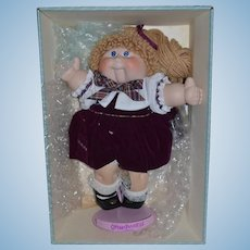 Vintage Doll Porcelain Cabbage Patch Limited Edition in Box w/ Certificate