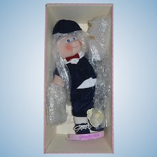 Vintage Doll Cabbage Patch Porcelain Adorable Boy Doll In Original Box Limited