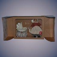 Vintage Doll Marklin Pram Carriage Buggy W/ Heidi Ott Doll In Original Box