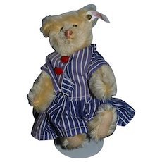 Vintage Teddy Bear Steiff Jointed Button Tag Small Size Sweet For Doll To Hold