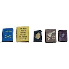 Old Miniature Doll Books REAL Books Dollhouse Borrowers Press Five Orange Pip: Miriam Mouse's Costume Collection Micro Guns Mosaic Press
