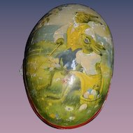 Antique Doll Inside Papier Mache Rabbit Egg All Bisque Dollhouse Miniature