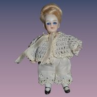 Antique Doll Miniature All Bisque Dollhouse French Market