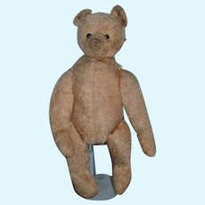 Antique Teddy Bear Looks like Winnie The Pooh Button Eyes Jointed Snout Nose Mohair