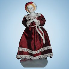 Artist Doll Miniature For Dollhouse Fancy Signed