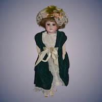Antique Doll French Bisque SFBJ Cabinet Size Sweet Face!