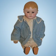 Antique Doll Cloth Doll Oil Cloth Doll Martha Chase