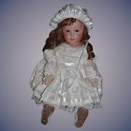 "Antique Doll French Bisque S.F.B.J. 247 TWIRP 26"" Toddler WOW In English Outfit"