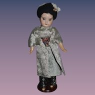 Antique Doll Bisque Oriental Cabinet Size Gorgeous
