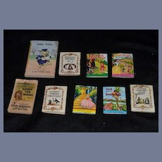 Vintage Doll Miniature Book Set Tiny Golden Book April Fool ! Barney Bear Flip Movie Book & More