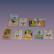 Vintage Doll Miniature Book Set Tiny Golden Book April Fool ! Barney Bear Flip Movie Book & More