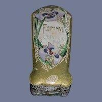 Antique Doll Miniature French Box Vanity Item L.T. Piver  Floramye Perfume Box Paris