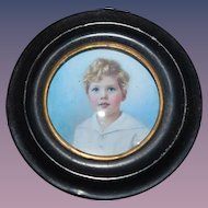 Old Doll Miniature Frame Photograph Portrait For Dollhouse Miniature Metal Frame