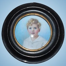 Old Doll Miniature Frame Photograph Portrait For Dollhouse Miniature Metal Frame
