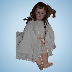 """Antique Doll French Bisque BeBe DEP Tete Jumeau Original Body Paper Label 32"""" Tall GOrGeOus"""