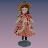 Antique Doll Bisque Miniature Factory Original Clothing Cabinet Size