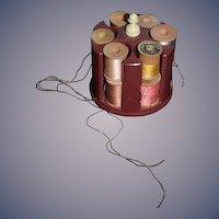 Old Miniature Thread Holder Spool W/ Thread