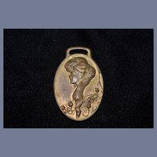 Wonderful Old Miniature Art Nouveau Metal Plaque For Dollhouse Gorgeous Signed