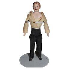 Wonderful Doll Artist Man Dollhouse Miniature Signed Edna Anderson