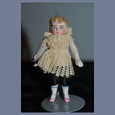 Antique Doll All Bisque Miniature Dollhouse Jointed