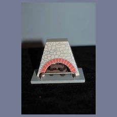 Vintage Doll Miniature Wood Working Plug Fireplace Dollhouse