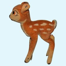 Vintage Bambi Steiff Silver Button Tag Miniature Sweet Doll Toy