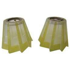 Vintage Art Dec Lamp shades (2)