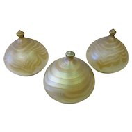 Set of three (3) Loetz domed shades