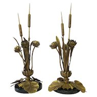 Art Nouveau Botanical table lamps