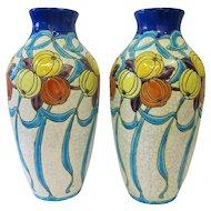 Boch Fres Pottery Vases
