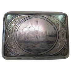 Late 19th century Russian Sterling Cigarette Case.