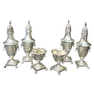 Early Sheffield Silver Condiment Set, circa 1875