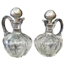 Antique Scottish Crystal Decanters (2)