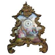 Austria Enamel Miniature Clock